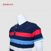 GOLF SHIRT RED SEA M 1309-1 STRIPE MULTICOLR L