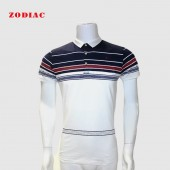 GOLF SHIRT RED SEA M 19001 STRETCH WHT/NVY L