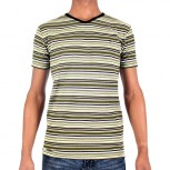 T SHIRT ZOD M JS170 STRIPED V NECK