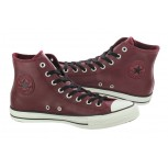 All Star High Top Leather - Oxbloods