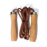 SKIPPING ROPE LEATHER ROPE+WOODEN HANDLE JR16