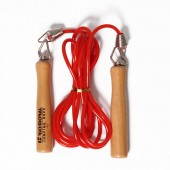 SKIPPING ROPE PLASTIC ROPE WITH WOODEN HANDLE JR20