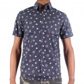 SHIRT XTM M S/S ANCHOR DOTS