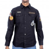 SHIRT SOV M VALERO L/SLV WITH BADGE DEATAIL