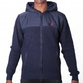 JERSEY POL M CLASSIC KNIT AND NYLON HOODIE JKT