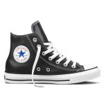 All Star High Top Leather - Black