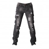 JEANS ZOD M Z001 SLIM STRGHT TORN PATCH WORK