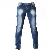 JEANS ZOD M Z003 SLIM STRGHT RIPPED FADED WASH