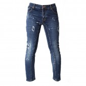 JEANS XTM M X02 SKINNY TAPERED PAINT SPILL TORN