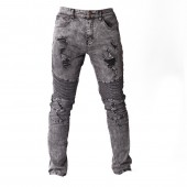 JEANS SIG M S006 REGULAR STRGHT RIPPLE RIPPED